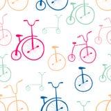 Teste padrão sem emenda das bicicletas Bicicletas Foto de Stock