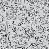 Teste padrão sem emenda das câmeras da foto Fotografia de Stock Royalty Free