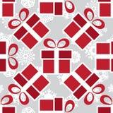 Teste padrão sem emenda das caixas de presente do Natal Imagens de Stock Royalty Free