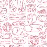 Teste padrão sem emenda das carnes Imagens de Stock Royalty Free