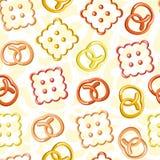 Teste padrão sem emenda das cookies Imagem de Stock
