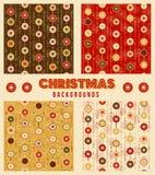 Teste padrão sem emenda das decorações do Natal Foto de Stock