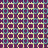 Teste padrão sem emenda das engrenagens coloridos Fotografia de Stock Royalty Free