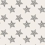 Teste padrão sem emenda das estrelas Fotografia de Stock Royalty Free