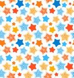 Teste padrão sem emenda das estrelas Imagens de Stock Royalty Free