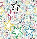 Teste padrão sem emenda das estrelas coloridos Imagem de Stock Royalty Free