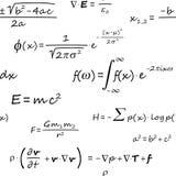 Teste padrão sem emenda das fórmulas científicas Foto de Stock Royalty Free
