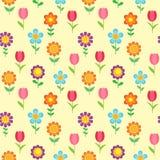 Teste padrão sem emenda das flores Foto de Stock