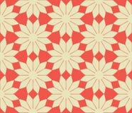 Teste padrão sem emenda das flores abstratas do vetor Fotografia de Stock Royalty Free