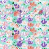 Teste padrão sem emenda das flores coloridas abstratas, backgro pintado à mão Fotografia de Stock Royalty Free