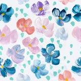 Teste padrão sem emenda das flores coloridas abstratas, backgro pintado à mão Foto de Stock