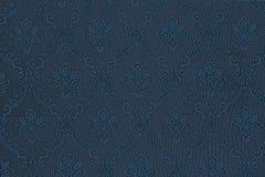 Teste padrão sem emenda das flores em uma obscuridade - tela azul Foto de Stock Royalty Free