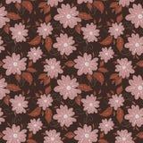 Teste padrão sem emenda das flores românticas Fotografia de Stock Royalty Free