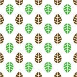 Teste padrão sem emenda das folhas Imagens de Stock