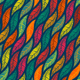 Teste padrão sem emenda das folhas coloridas de queda Fotos de Stock
