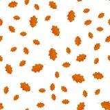 Teste padrão sem emenda das folhas do amarelo do outono aleatoriamente Imagem de Stock