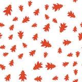 Teste padrão sem emenda das folhas do vermelho do outono aleatoriamente Foto de Stock