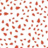 Teste padrão sem emenda das folhas do vermelho do outono aleatoriamente Imagem de Stock