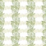 Teste padrão sem emenda das folhas, papel de parede floral, mão tirada, vetor Imagem de Stock Royalty Free