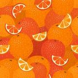 Teste padrão sem emenda das laranjas Foto de Stock Royalty Free