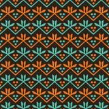 Teste padr?o sem emenda das listras das folhas de outono Hastes florais retros estilizados por todo o lado na c?pia Tela bonita d ilustração royalty free