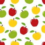 Teste padrão sem emenda das maçãs ilustração royalty free