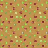 Teste padrão sem emenda das maçãs, Fotografia de Stock