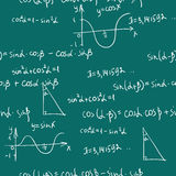 Teste padrão sem emenda das matemáticas Fotos de Stock Royalty Free