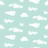Teste padrão sem emenda das nuvens realísticas do vetor Fotografia de Stock Royalty Free