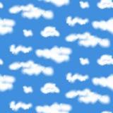 Teste padrão sem emenda das nuvens realísticas do vetor Foto de Stock Royalty Free
