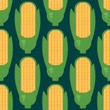 Teste padrão sem emenda das orelhas de milho no estilo liso ilustração stock