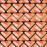 Teste padrão sem emenda das páletes de madeira de Trianglular Fotografia de Stock