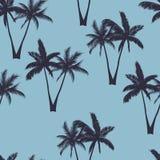 Teste padrão sem emenda das palmeiras ilustração do vetor