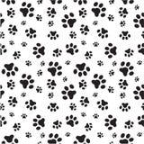 Teste padrão sem emenda das patas do cão ilustração royalty free