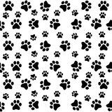 Teste padrão sem emenda das patas do cão Fotos de Stock Royalty Free