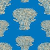 Teste padrão sem emenda das polias do trigo maduro ilustração do vetor