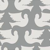 Teste padrão sem emenda das pombas e dos pombos Foto de Stock Royalty Free