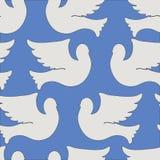 Teste padrão sem emenda das pombas e dos pombos Fotos de Stock