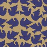 Teste padrão sem emenda das pombas e dos pombos Foto de Stock