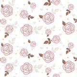Teste padrão sem emenda das rosas Fotografia de Stock Royalty Free