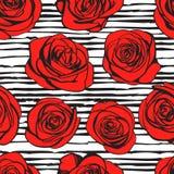 Teste padrão sem emenda das rosas abstratas Vetor Fotografia de Stock Royalty Free