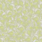 Teste padrão sem emenda das rosas Imitação do lápis do desenho Rosas pasteis em branco-cinzento e em amarelo Fotos de Stock