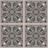 Teste padrão sem emenda das telhas Fundo do vintage - azulejo vitoriano no vetor Imagens de Stock