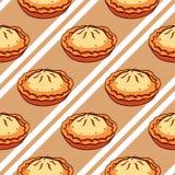 Teste padrão sem emenda das tortas Imagem de Stock Royalty Free