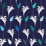 Teste padrão sem emenda das tulipas elegantes do estilo de Iznik Imagens de Stock Royalty Free