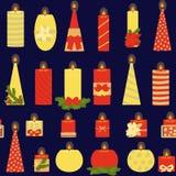 Teste padrão sem emenda das velas em um fundo escuro festive Ilustra??o do vetor ilustração do vetor