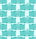 Teste padrão sem emenda de América da casa branca Presidente Residência dos E.U. Vá Fotos de Stock Royalty Free