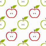 Teste padrão sem emenda de Apple Fotografia de Stock Royalty Free