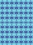 Teste padrão sem emenda de Argyle Diamond do esquema azul fotos de stock