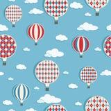 Teste padrão dos balões de ar quente ilustração do vetor